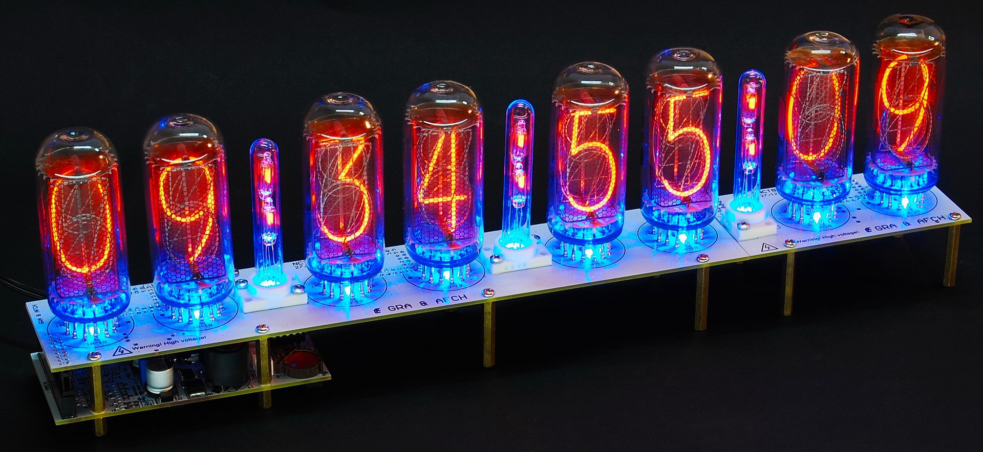 PCB Nixie tubes clock IN-18