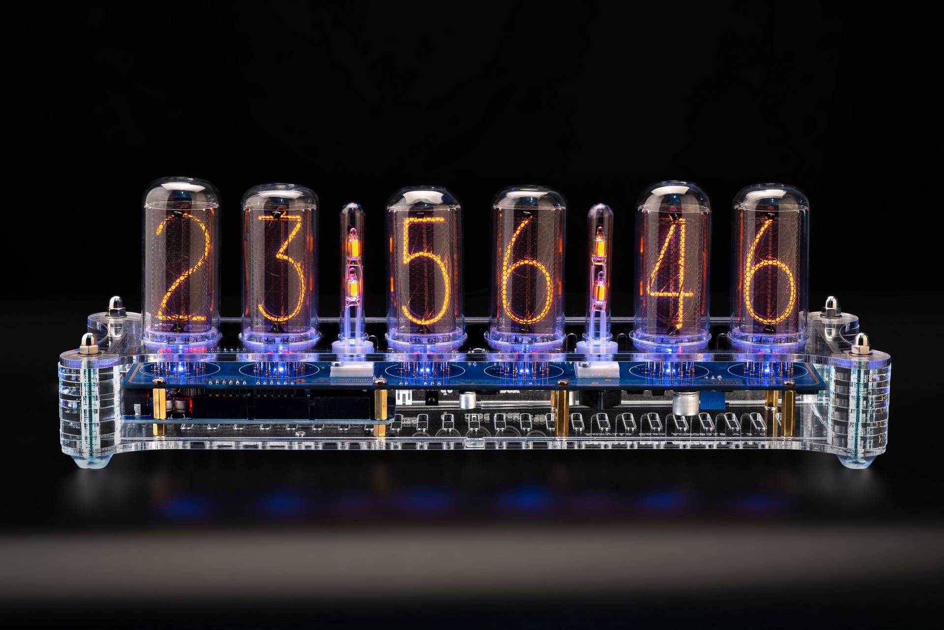 Raspberry Pi IN-14 Shield Nixie Tubes Clock GPS, Temp sensor, Remote