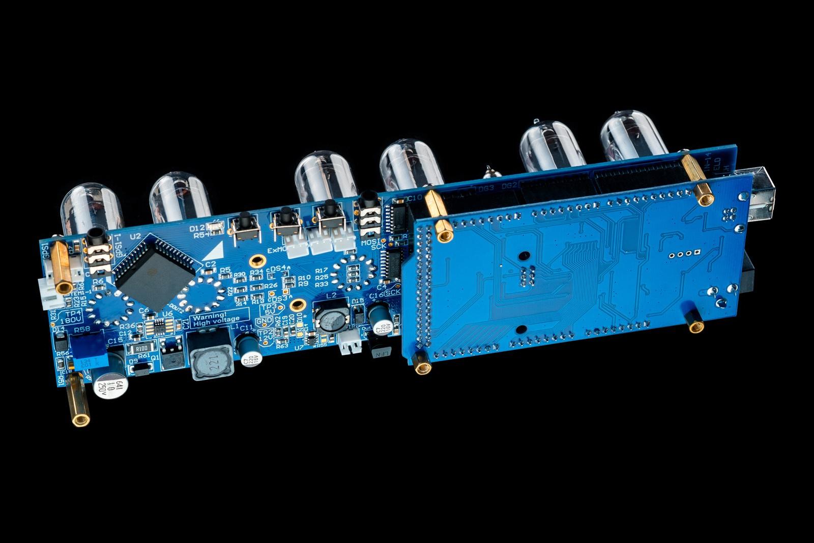 Nixie Tubes Clock Arduino Shield NCS314 IN-14 options: Tubes, Sockets,  Columns, Arduino, GPS, Temp sensor, Remote