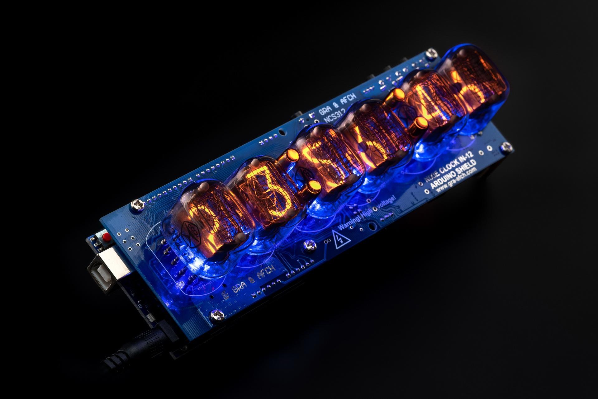 DIY KIT for Arduino Shield NCS312 IN-12 Nixie Tubes Clock