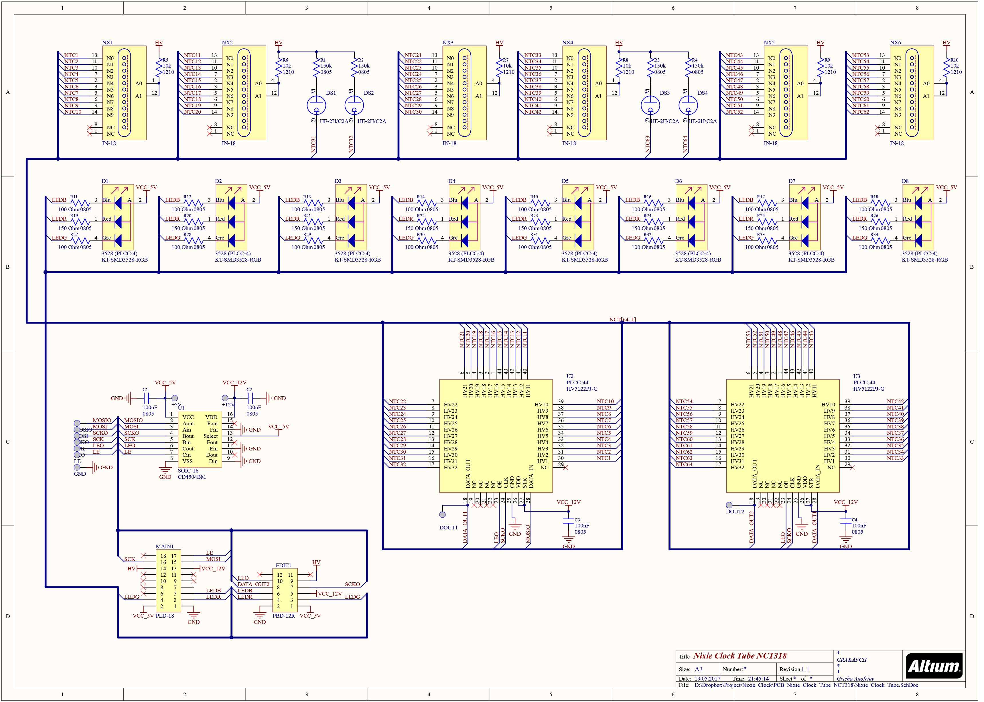 WRG-5324] Clock Schematics