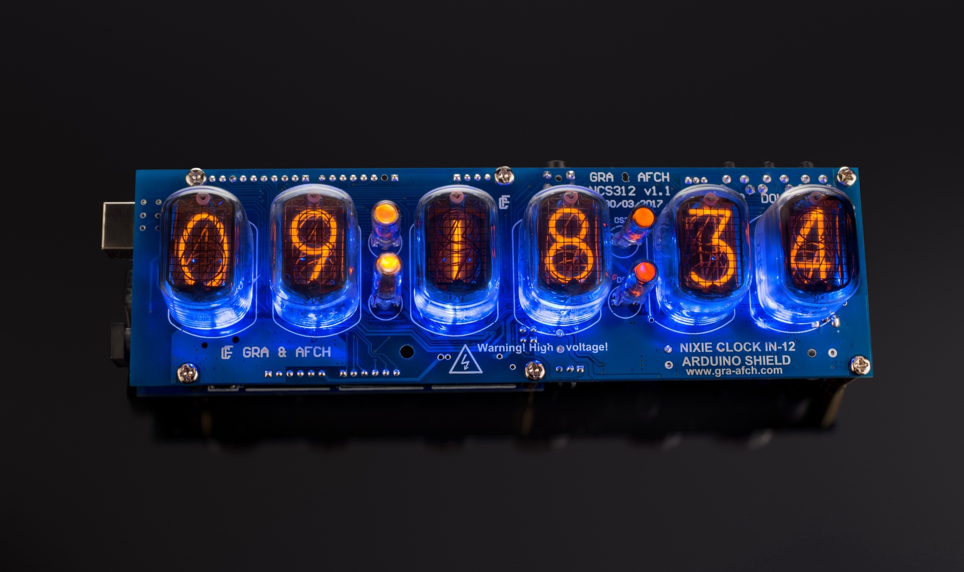 Nixie Tubes Clock Arduino Shield NCS312 IN-12 [Tubes, Sockets, Arduino  optional]