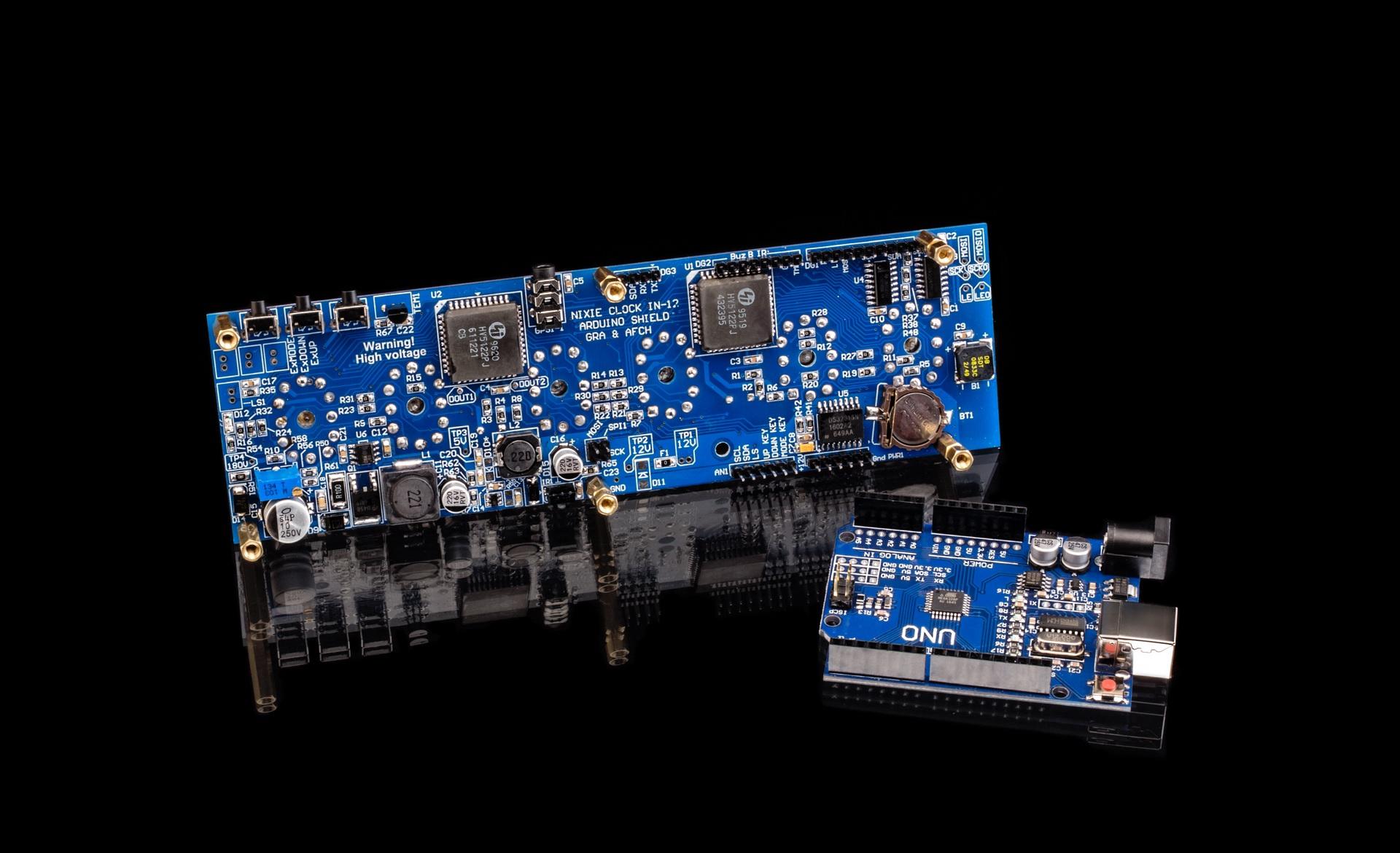 Nixie Tubes Clock Arduino Shield NCS312 IN-12 [Tubes, Sockets, Arduino  optional]