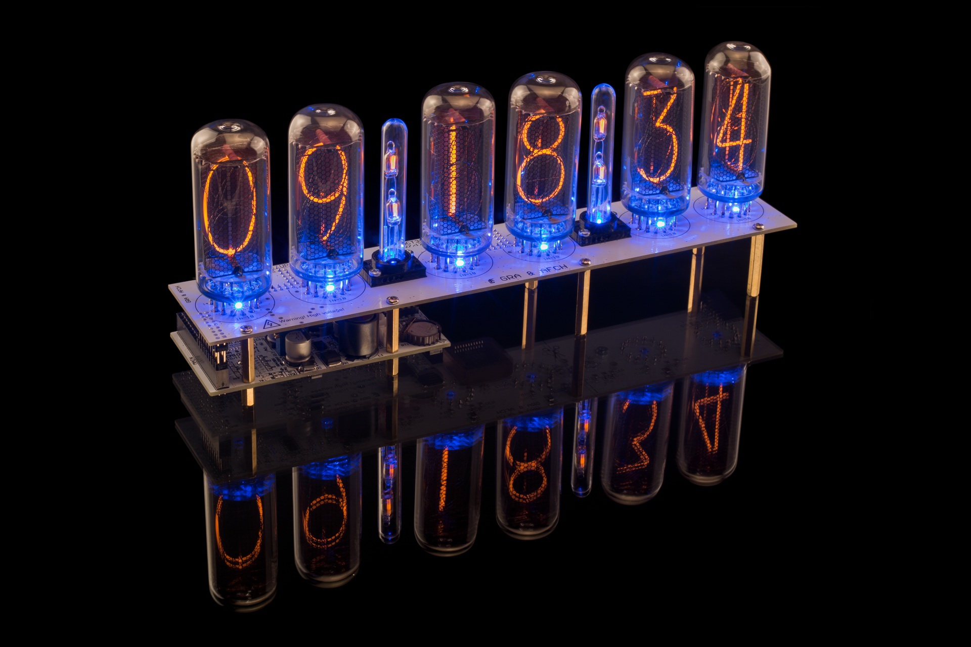 DIY KIT for IN-18 Nixie Tubes Clock [4, 6 or 8 Tubes]