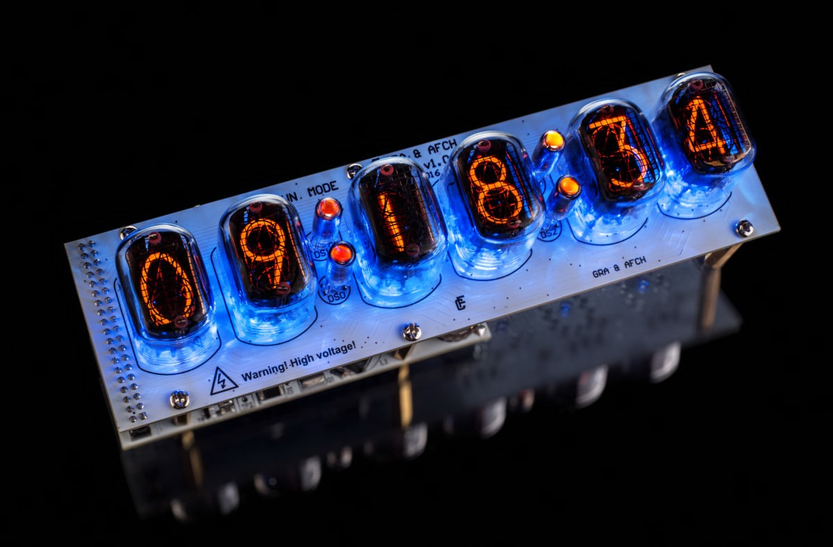Nixie Tubes Clock In 12 Diy Kit Pcbs All Parts Socket Pin With Schematic Tube Circuit This Example Of Assembled On