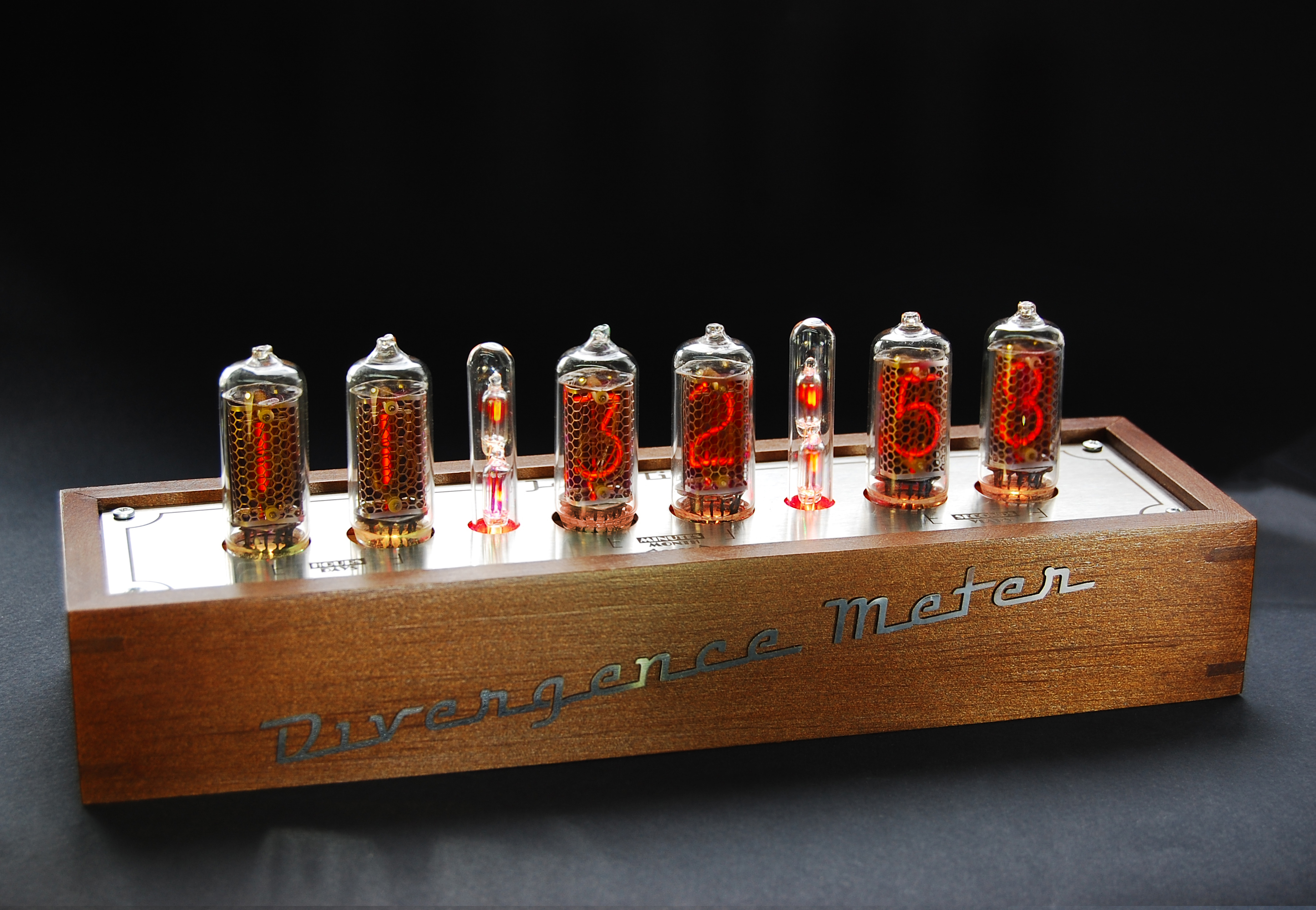 In 14 Fine Grid Vintage Nixie Tubes Clock Usb Divergence Meter Tube Further On Schematic Actual Photos Of Mini By Gra Afch