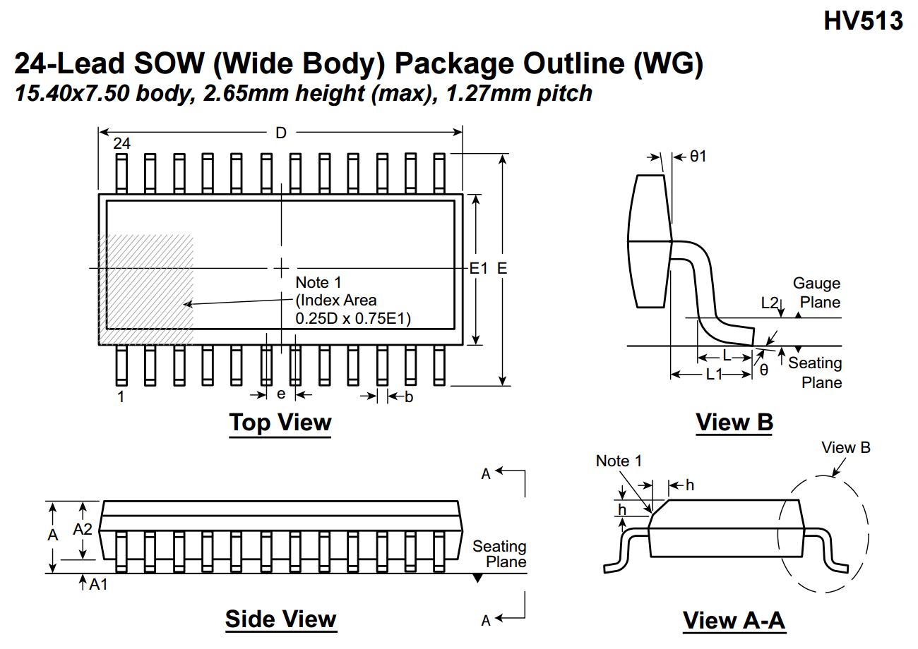 HV513 microchip high voltage nixie tubes driver