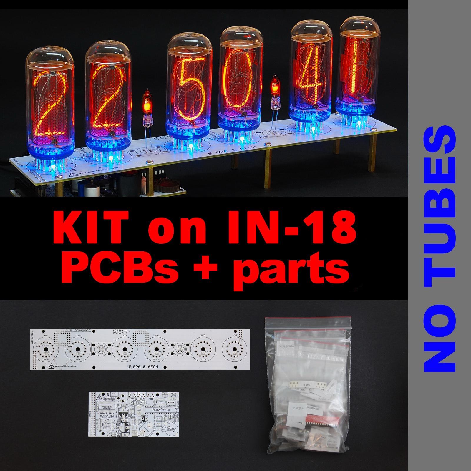 DIY KIT for NIXIE Tubes Clocks IN-18