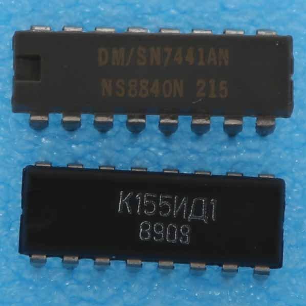 KM155ID1 = 74141 IC Russian Driver for NIXIE tube in CERAMIC   6pcs  NEW